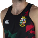 British And Irish Lions 2021 Mens Rugby Singlet - Black