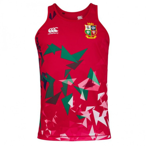 British And Irish Lions 2021 Mens Rugby Singlet - Red