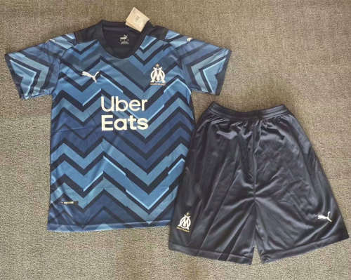 Olympique Marseille 21/22 Away Jersey and Short Kit
