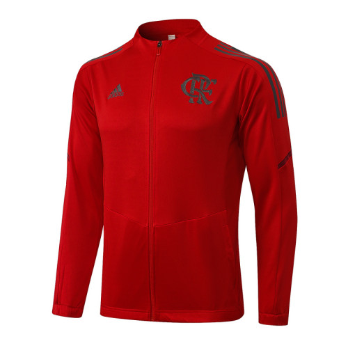 Flamengo 2021 Jacket Tracksuit Red A433#