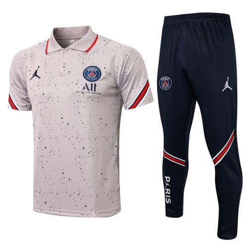 Paris Saint-Germain 21/22 Pre-Match Polo Kit Gray C674#