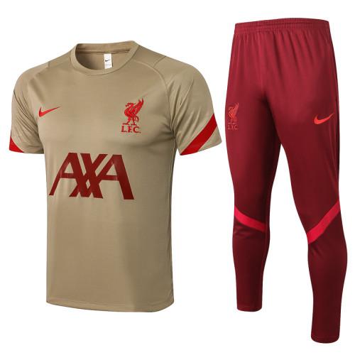 Liverpool 21/22 Training Kit Yellow C665#