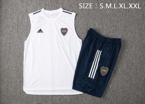 Boca Juniors 21/22 Sleeveless Training Kit White D586#