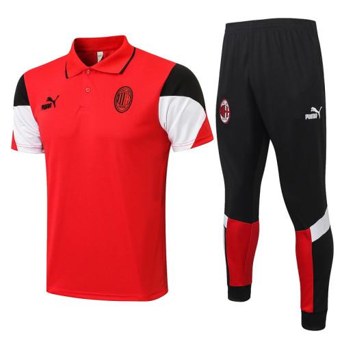 AC Milan 21/22 Pre-Match Polo Kit Red C672#