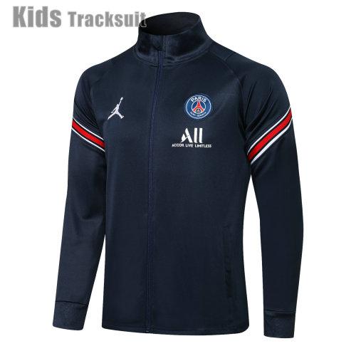 Kids Paris Saint-Germain 20/21 Jacket Tracksuit Navy E526#