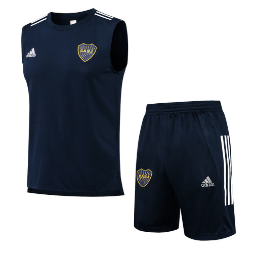 Boca Juniors 21/22 Sleeveless Training Kit Navy D585#