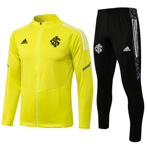 SC Internacional 2021 Jacket Tracksuit Yellow A432#