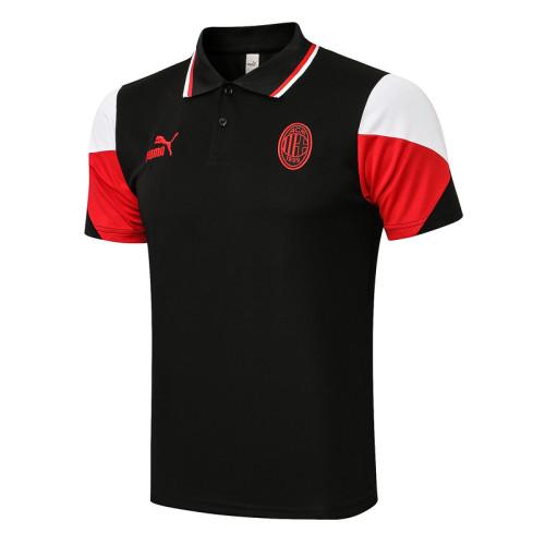 AC Milan 21/22 Pre-Match Polo Kit Black C673#