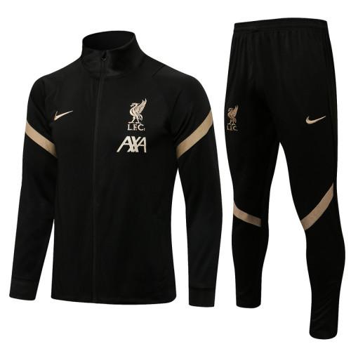 Liverpool 21/22 Jacket Tracksuit Black A444#