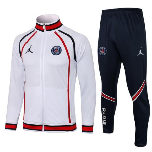 Paris Saint-Germain 21/22 Jacket Tracksuit White A434#