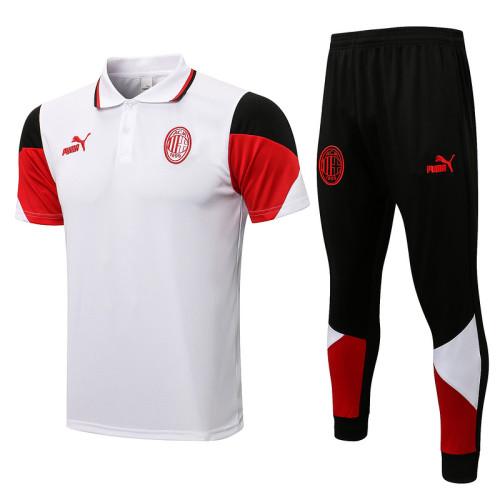 AC Milan 21/22 Pre-Match Polo Kit White C670#