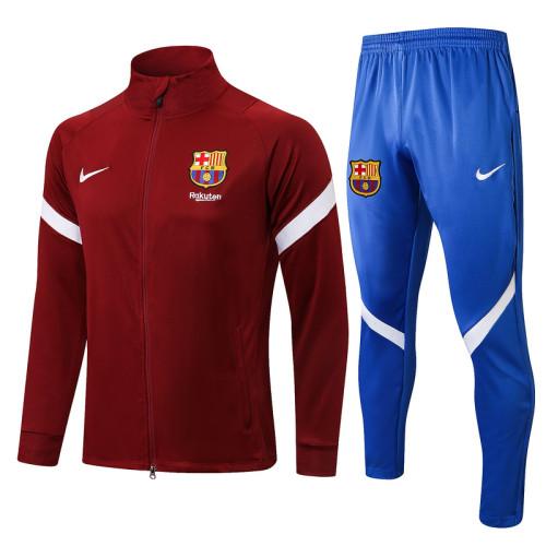 Barcelona 21/22 Jacket Tracksuit Purplish Red A441#