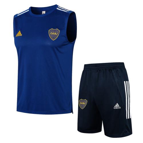 Boca Juniors 21/22 Sleeveless Training Kit Bright Blue D591#