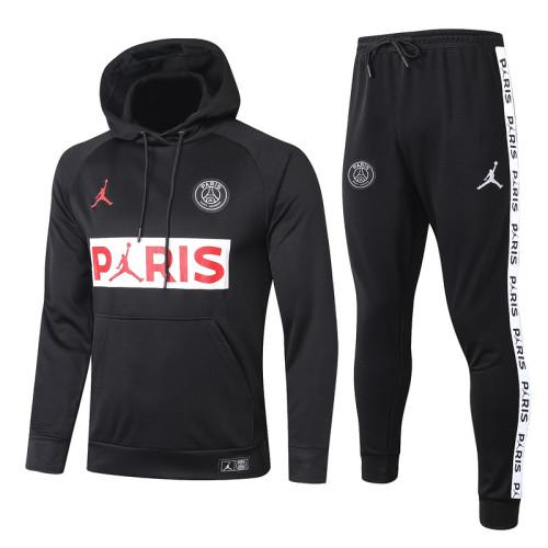 Paris Saint-Germain 21/22 Full-Zip Hoodie Tracksuit Black F243#