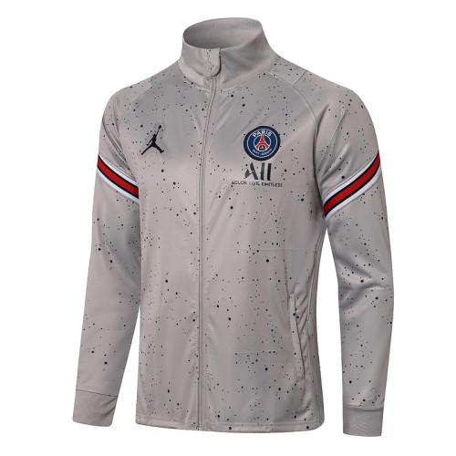 Paris Saint-Germain 21/22 Jacket Tracksuit Gray A439#