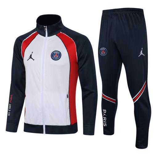 Paris Saint-Germain 21/22 Jacket Tracksuit White A438#