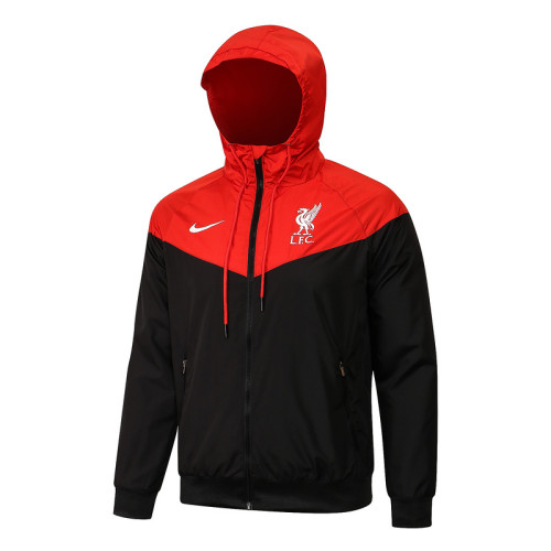 Liverpool 21/22 Windbreaker Red and Black G086#