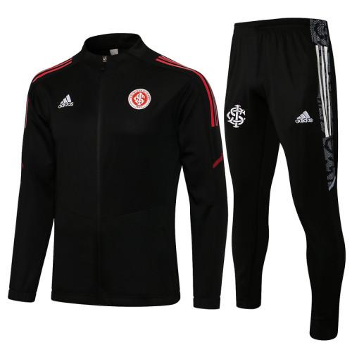 SC Internacional 2021 Jacket Tracksuit Black A435#
