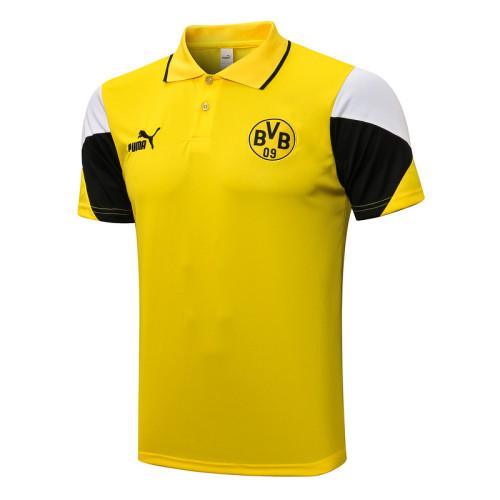 Borussia Dortmund 21/22 Pre-Match Polo Kit Yellow C671#