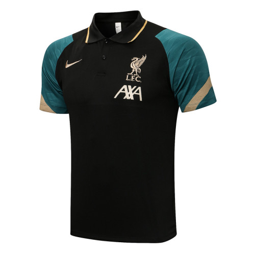 Liverpool 21/22 Pre-Match Polo Kit Black C667#