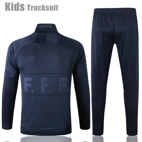 Kids France 2021 Jacket Tracksuit Navy E459#