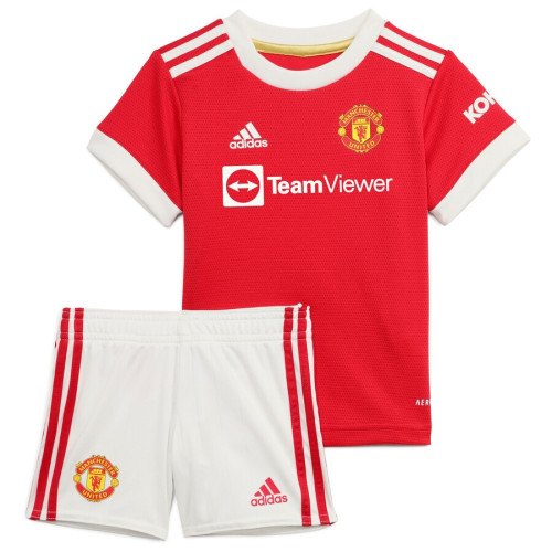 Kids Manchester United 21/22 Home Jersey and Short Kit