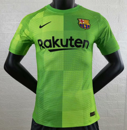 Player Version Barcelona 21/22 Home Goalkeeper Authentic Jersey