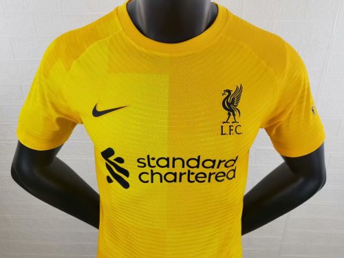Player Version Liverpool 21/22 Away Goalkeeper Authentic Jersey