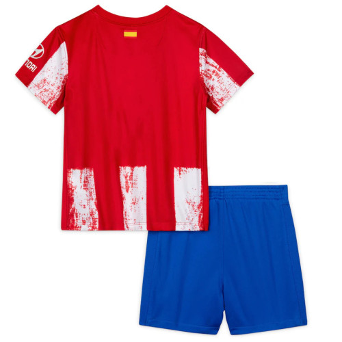 Kids Atletico Madrid 21/22 Home Jersey and Short Kit