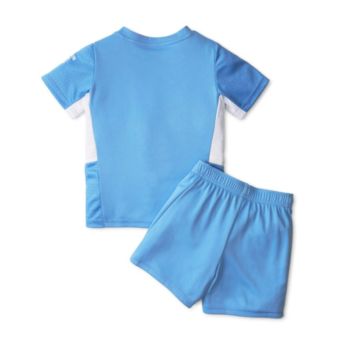 Kids Manchester City 21/22 Home Jersey and Short Kit