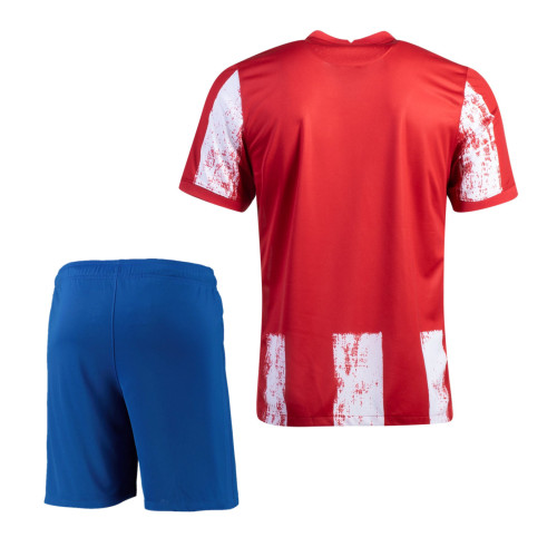 Atletico Madrid 21/22 Home Soccer Jersey and Short Kit