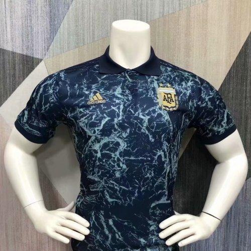 Argentina 21/22 Pre-Match Polo Shirt - Navy