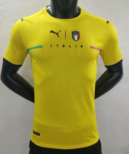Player Version Italy 21/22 Goalkeeper Authentic Jersey - Yellow