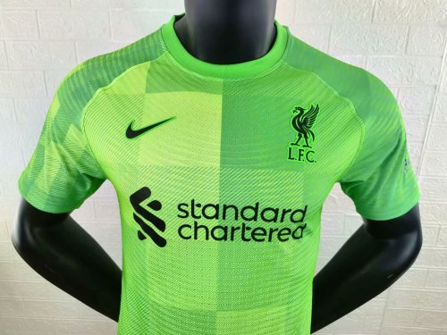 Player Version Liverpool 21/22 Home Goalkeeper Authentic Jersey
