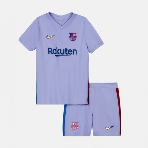Kids Barcelona 21/22 Away Jersey and Short Kit