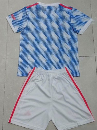 Kids Manchester United 21/22 Away Jersey and Short Kit