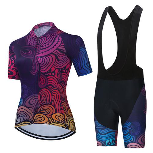 Women's 2021 Cycling Raod Race Suit Pro Team Cycling Jersey