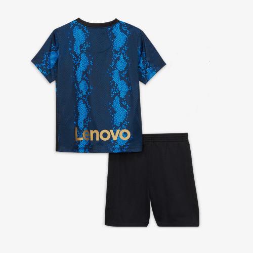 Kids Inter Milan 21/22 Home Jersey and Short Kit