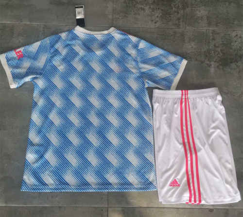 Manchester United 21/22 Away Jersey and Short Kit