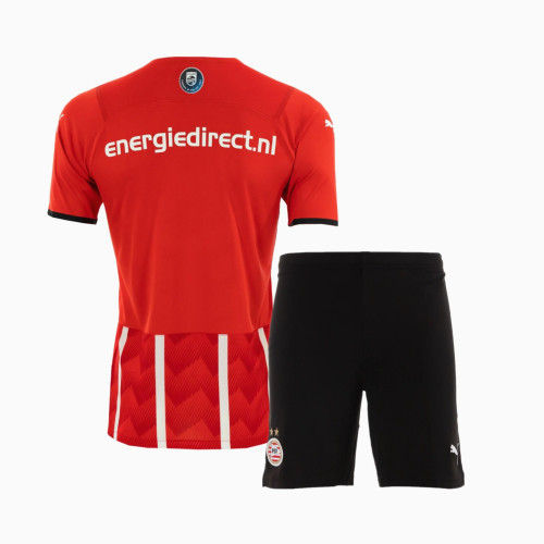 Kids PSV Eindhoven 21/22 Home Jersey and Short Kit