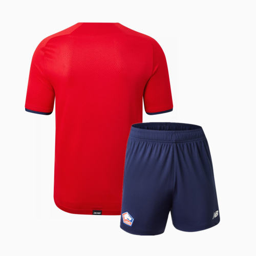 Kids Lille OSC 21/22 Home Jersey and Short Kit