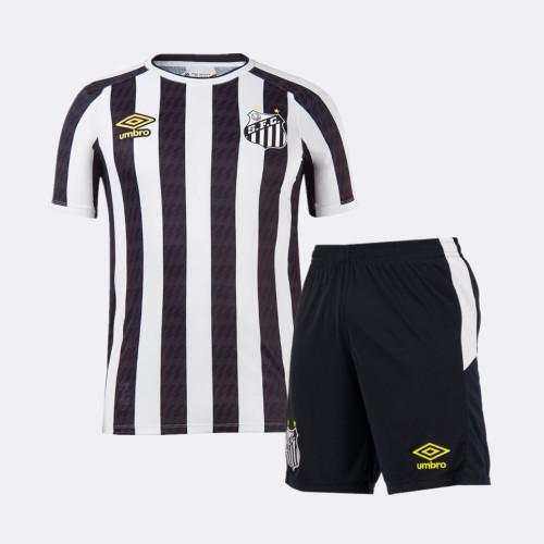 Kids Santos 2021 Away Jersey and Short Kit