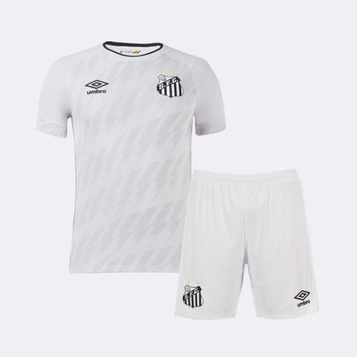 Kids Santos 2021 Home Jersey and Short Kit