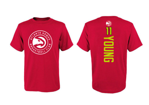 Men's Player Team T-Shirt - Trae Young - Red