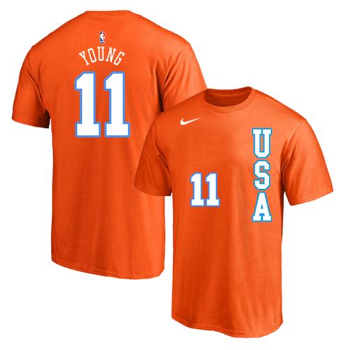 Men's Player Team T-Shirt - Trae Young - Orange