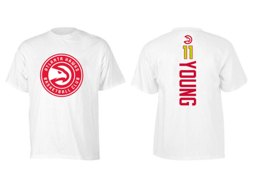 Men's Player Team T-Shirt - Trae Young - White