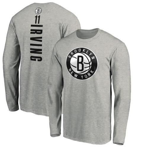 Men's Player Team L/S T-Shirt - Kyrie Irving - Gray