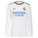 Thai Version Real Madrid 21/22 Home Long Sleeve Jersey