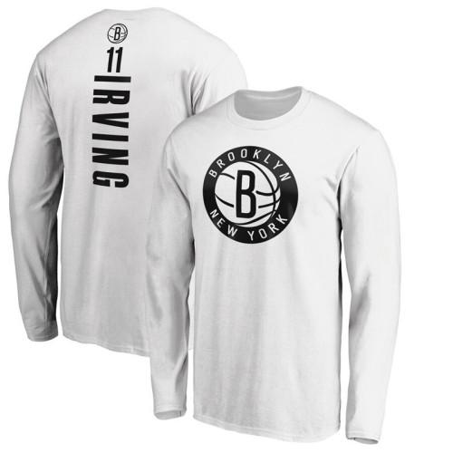 Men's Player Team L/S T-Shirt - Kyrie Irving - White