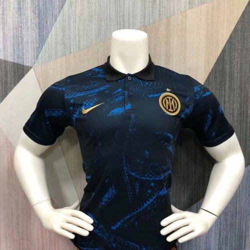 Inter Milan 21/22 Pre-Match Polo Shirt - Home